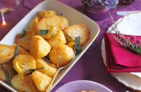 Zitronen Salbei Kartoffeln